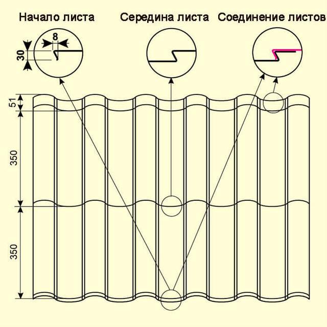 Модульная металлочерепица Arad