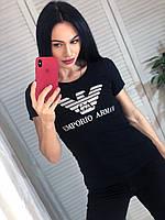 Летняя  женская турецкая  футболка с надписью р.42-48, FN - 1048, фото 1