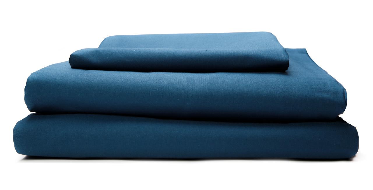 Комплект постельного белья Бязь 140 г/м2 Двуспальный Евро DARK BLUE