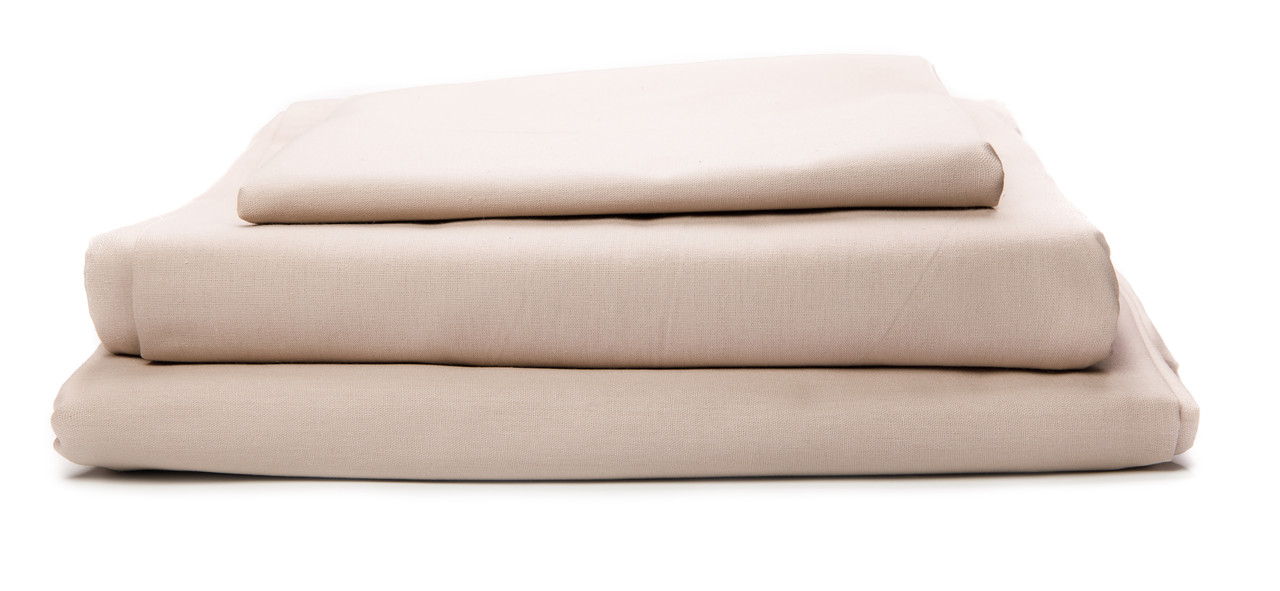 Комплект постельного белья Бязь 140 г/м2 Двуспальный Евро LIGHT BEIGE