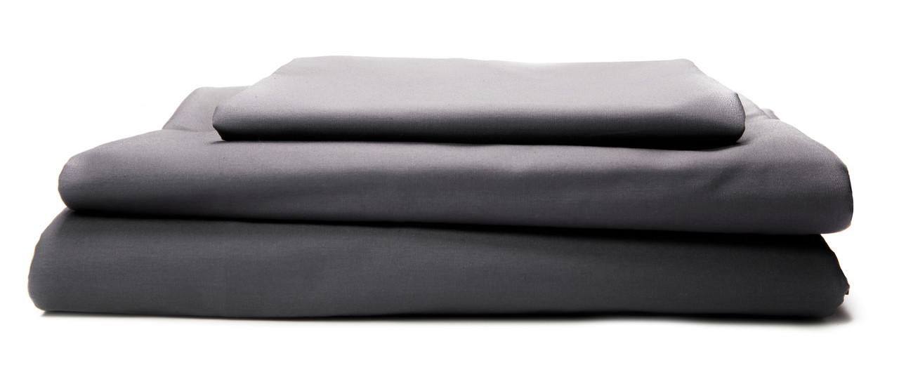 Комплект постельного белья Бязь 140 г/м2 Двуспальный Евро DARK GREY