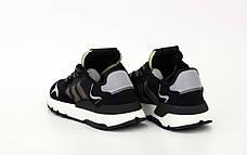 Мужские рефлективные кроссовки в стиле Adidas Nite Jogger Black/Beige/Grey, фото 3