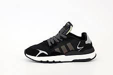 Мужские рефлективные кроссовки в стиле Adidas Nite Jogger Black/Beige/Grey, фото 2