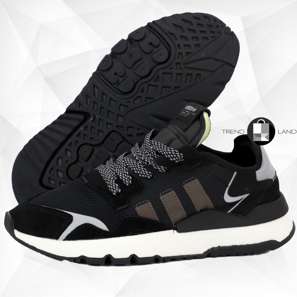 Мужские рефлективные кроссовки в стиле Adidas Nite Jogger Black/Beige/Grey