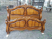 Ліжко двоспальне з натуральної деревини. Приймаємо індивідуальні замовлення за Вашими розмірами  0688014953