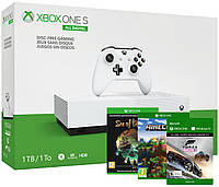 Игровая приставка Xbox One S 1TB All-Digital Edition + Sea of Thieves + Minecraft + Forza Horizon 3 (консоль)
