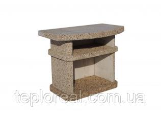 """Бетонный стол для уличного камина-барбекю """"Сицилия"""""""