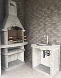 """Бетонный стол для уличного камина-барбекю """"Сицилия"""", фото 5"""