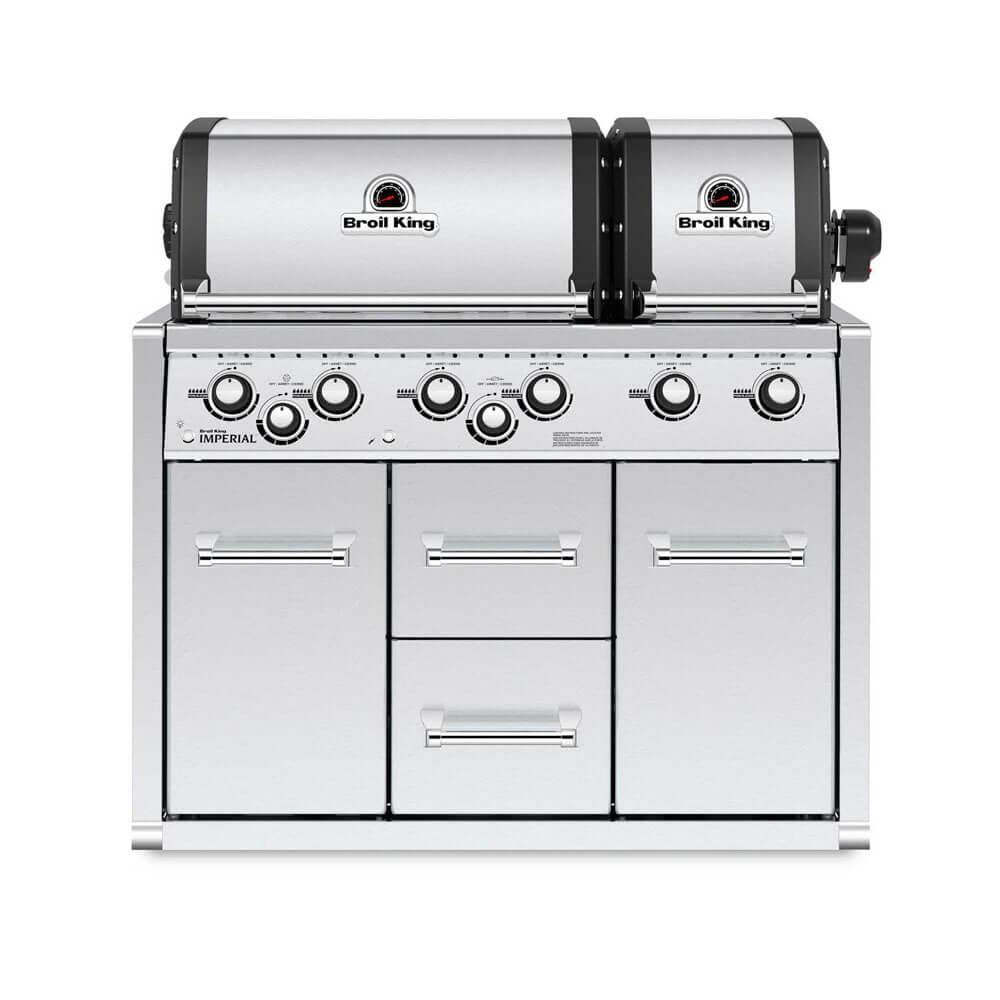 Встраиваемый газовый гриль на две жарочные камеры Imperial XLS Cabinet Broil King 957483