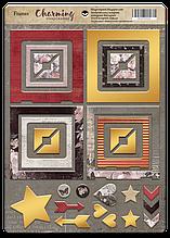 Рамки из чипборда с фольгированием (золото) для скрапбукинга 30шт Charming (очарование)