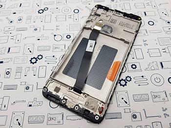 Дисплей Xiaomi Redmi 7A модуль черный Сервисный оригинал с разборки