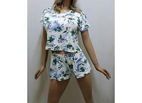 Пижама шорты и футболка женская, размеры от 42 до 50
