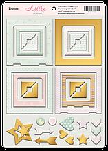 Рамки из чипборда с фольгированием (золото) для скрапбукинга 30шт Little Bunny