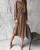 Платье рубашка женское миди