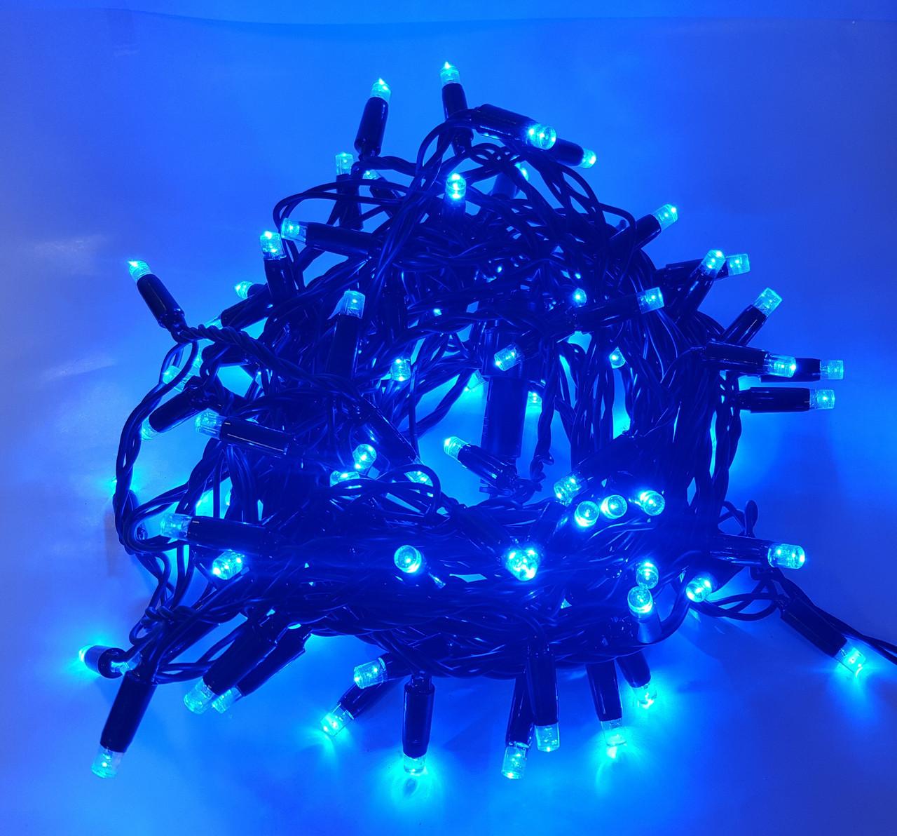 Уличная новогодняя светодиодная гирлянда 2.5Line 100B-U синяя 100Led