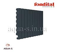 Радиатор алюминиевый Fondital Blitz Super B4 Black Coffee 500/100 (черный) 12-секций (Италия)
