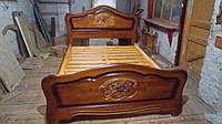 Ліжко з натуральної деревини.Приймаємо індивідуальні замовлення за Вашими розмірами.