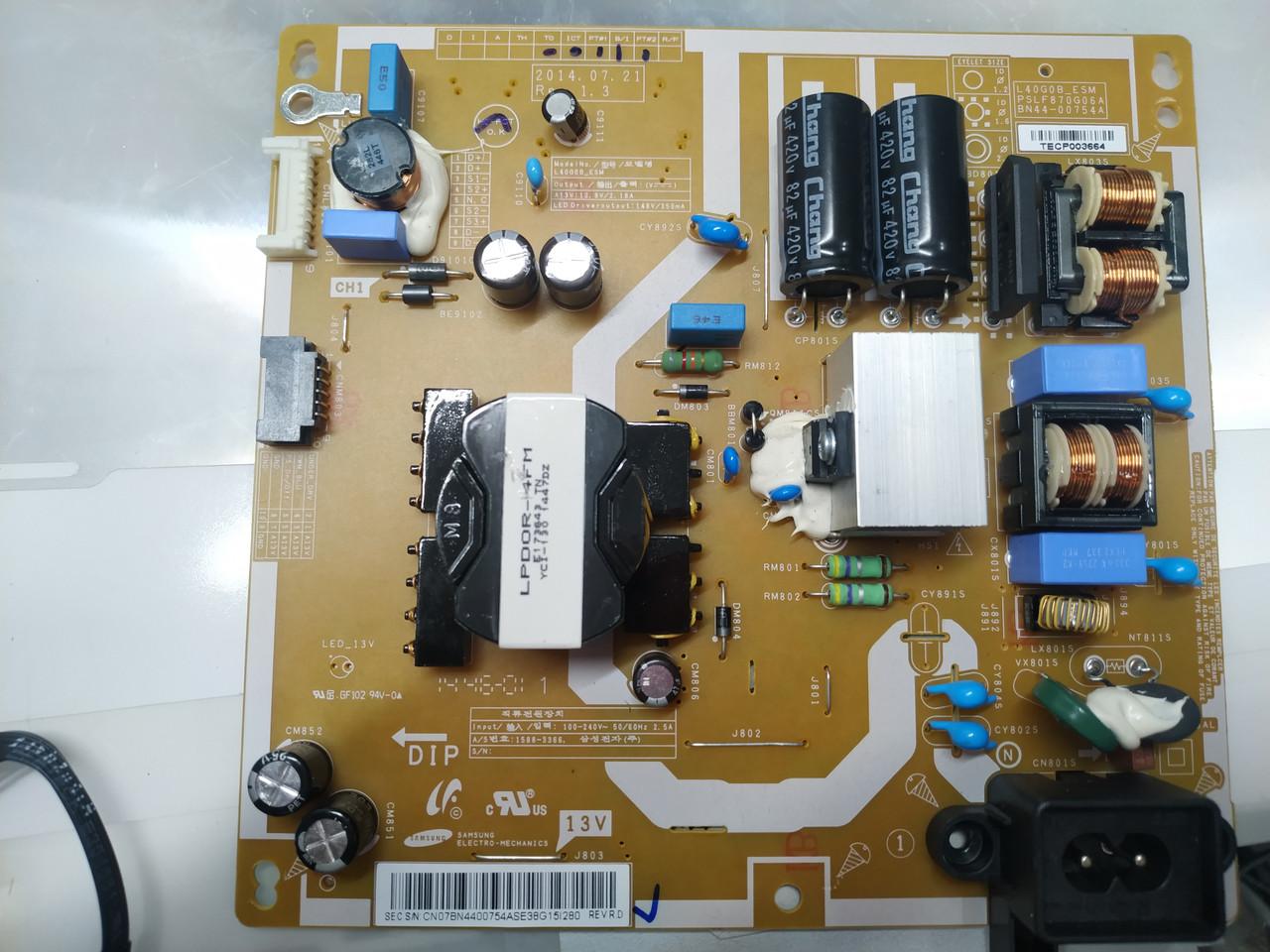 Запчасти для телевизора Samsung UE43J5500 (BN41-02347A, BN44-00754A, PSLF870G06A)