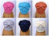 Красивая весенняя шапка для девушки 2 года, 2.5 года, 3 года, 3.5 года, 4 года, 5 лет, 52, Коралловый, фото 2