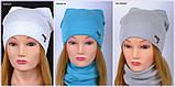 Красивая весенняя шапка для девушки 2 года, 2.5 года, 3 года, 3.5 года, 4 года, 5 лет, 52, Коралловый, фото 4