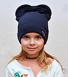 Красивая весенняя шапка для девушки 2 года, 2.5 года, 3 года, 3.5 года, 4 года, 5 лет, 52, Коралловый, фото 7