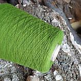 100% шерсть шетландской овцы , молодая зелень, фото 2