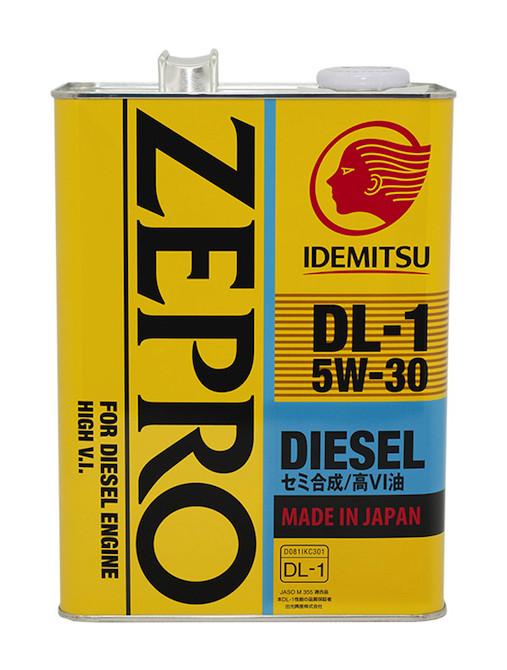 Original IDEMITSU ZEPRO DIESEL DL-1 5W30 4л Масло моторное совместимо с сажевыми фильтрами.