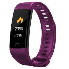 Розумний фітнес браслет Smart Band Y5 з тонометром purple