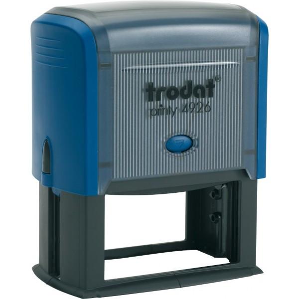 Оснастка для штампа пластиковая прямоугольная Trodat Printy 4926 75х38 мм синяя