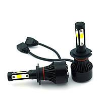 LED-лампы F7 с цоколем H7 6500K 9000Lm (лед лампы с активным охлаждением и влагозащитой)+ПОДАРОК!