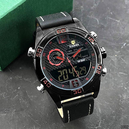 Часы мужские кварцевые Xierwa XW-828 Black-Red AB-1055-0002, фото 2