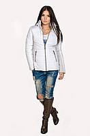 Куртка демисезонная Мари  белый/светло-серый (42-52)