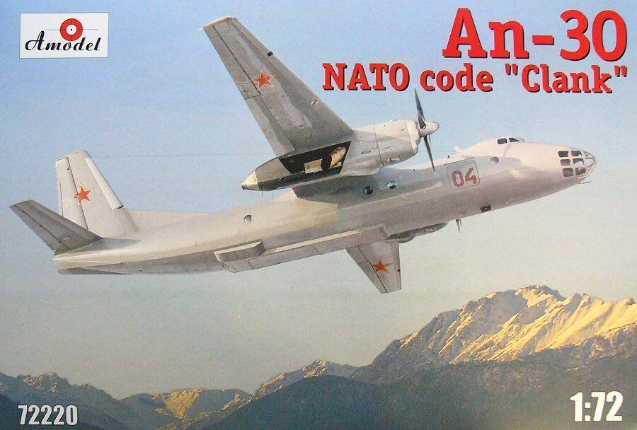 Ан-30 Clank. Сборная модель самолета в масштабе 1/72. AMODEL 72220