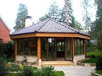 Красивые деревянные беседки для сада