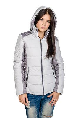 Куртка женская Спорт Мари  светло-серый/серый (42-50)