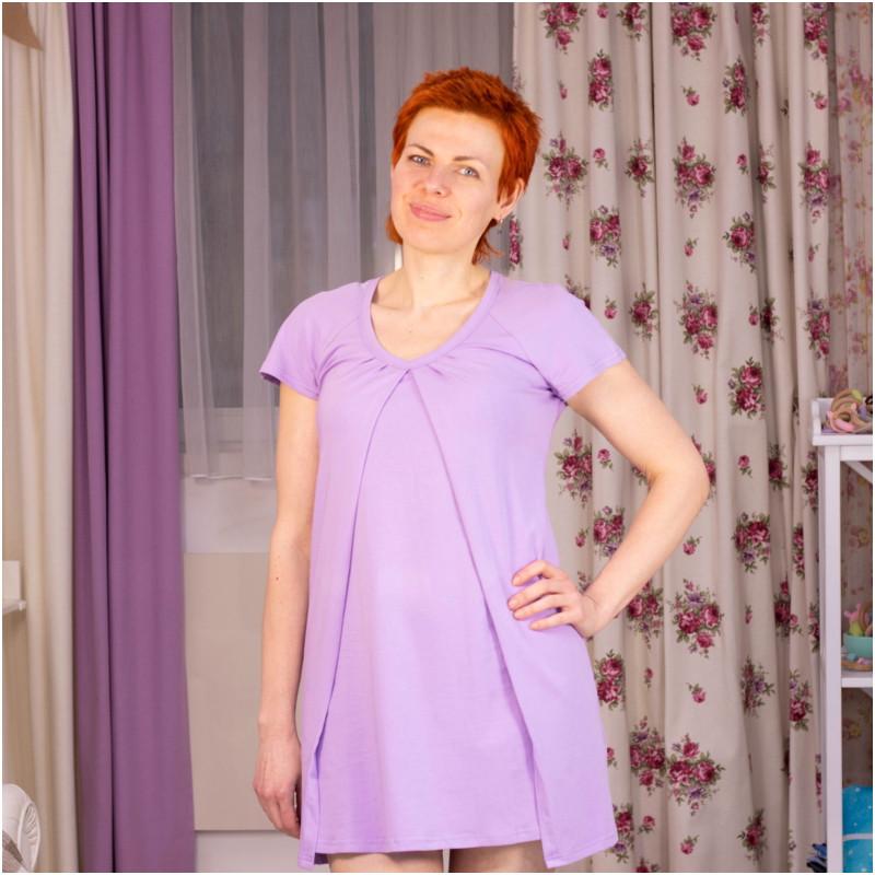 Ночная рубашка для беременных и кормящих ГРУДНИЧОК «Лаванда» (размер 42/44)