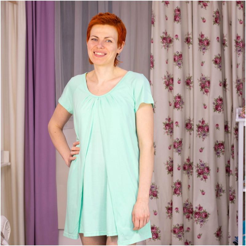 Ночная рубашка для беременных и кормящих ГРУДНИЧОК «Ледок» (размер 46-48)