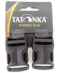 Застёжка-фастекс 25мм для ремней (2 шт.) Tatonka SR-Buckle чёрная