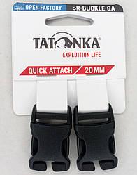 Застёжка-фастекс 20мм для ремней (2 шт.) Tatonka SR-Buckle QA чёрная