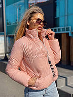 Лаковая короткая женская куртка на молнии без капюшона 2201270, фото 1