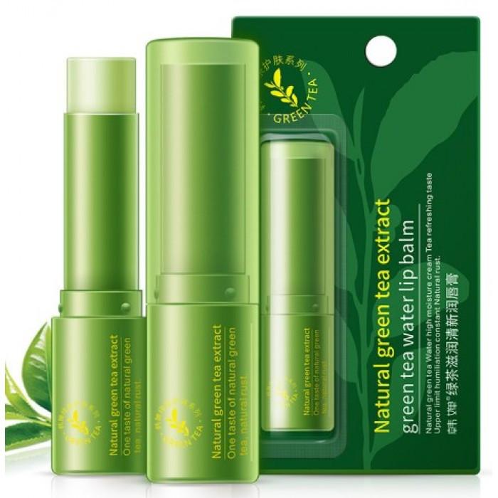 Гигиеническая помада для губ с зеленым чаем ROREC Natural Green Tea Water Lip Balm