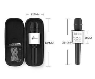 Беспроводной микрофон для караоке Q9 Черный, фото 2