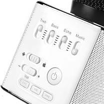 Беспроводной микрофон для караоке Q9 Черный, фото 3