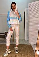 Легкий женский спортивный костюм из плащевки с худи 6005872, фото 1