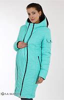 Зимняя куртка для беременных Kristin бирюза+черный-С-М