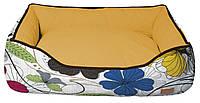 Лежанка для собак Croci COZY FLO 70*60*20 см (цветы)