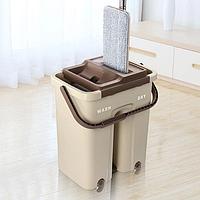 Швабра с ведром с автоматическим отжимом Easy Mop | Комплект для уборки Чудо-швабра и ведро с отжимом