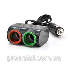 АЗУ разветвитель Olesson 1631, 12V-2*12V+USB, Black, Blister