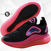Женские кроссовки в стиле Nike Air Max 720 Black/Pink