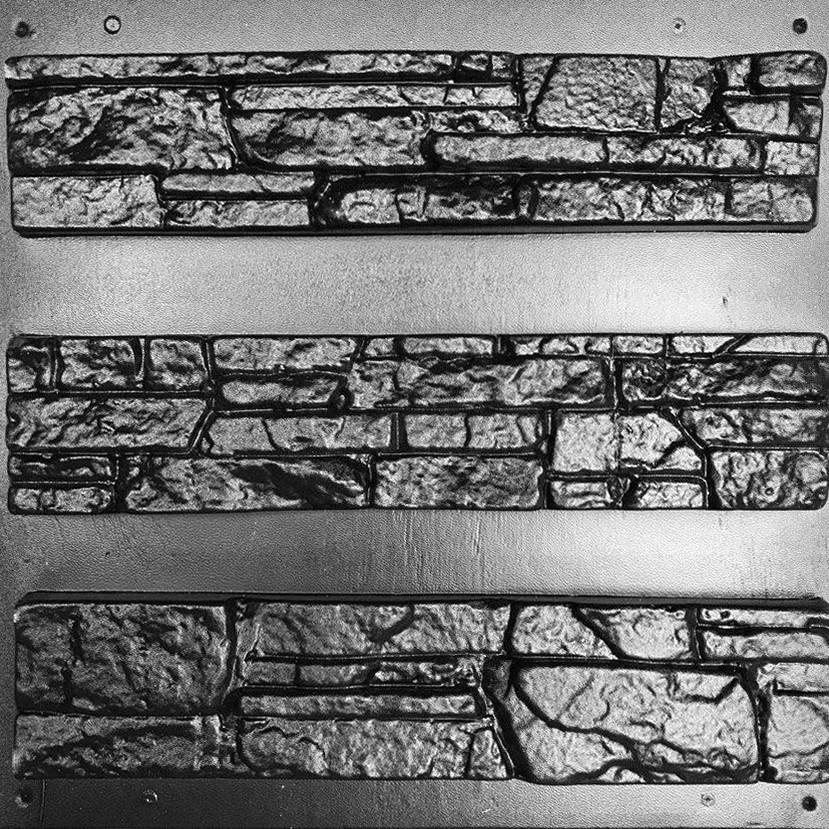 СЛАНЕЦ СКАЛА - комплект форм для искусственного камня; в 1 м²- 20 шт; пластиковые формы аляска